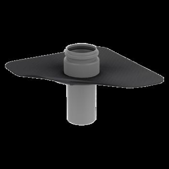 Penetration through the vapor barrier with integrated custom made sleeve