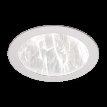 Ceiling diffuser, plastic, white, flat