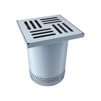 Partly perforated terrace attachment