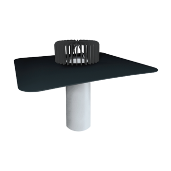 Extended single-wall roof outlets for cold roofs with integrated custom made sleeve