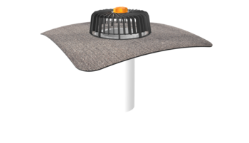 Extended single-wall roof outlets for cold roofs with integrated bitumen sleeve