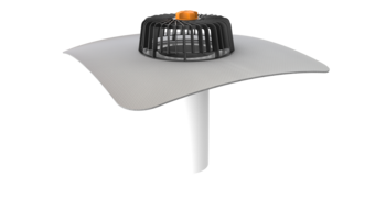 Extended single-wall roof outlets for cold roofs with integrated PVC sleeve