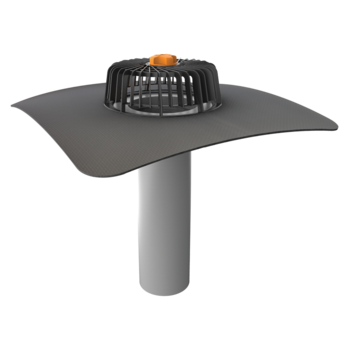 Extended single-wall roof outlets with integrated custom made sleeve