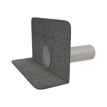 Round through wall outlets with integrated bitumen sleeve