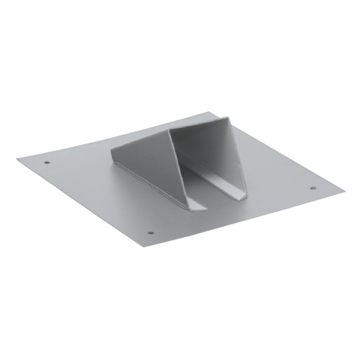 Metal sheet snow catcher, light grey colour